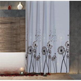Dandelion Extra Long Fabric Shower Curtain