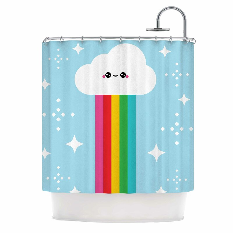Mr Rainbow Kids Shower Curtain