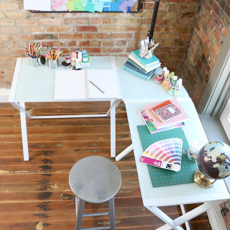 Wrought Studio Ferro L Shape Corner Desk Amp Reviews Wayfair