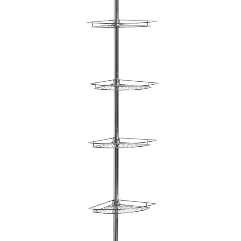 Sweet Home Collection 4 Tier Tension Pole Corner Shower Caddy | Wayfair