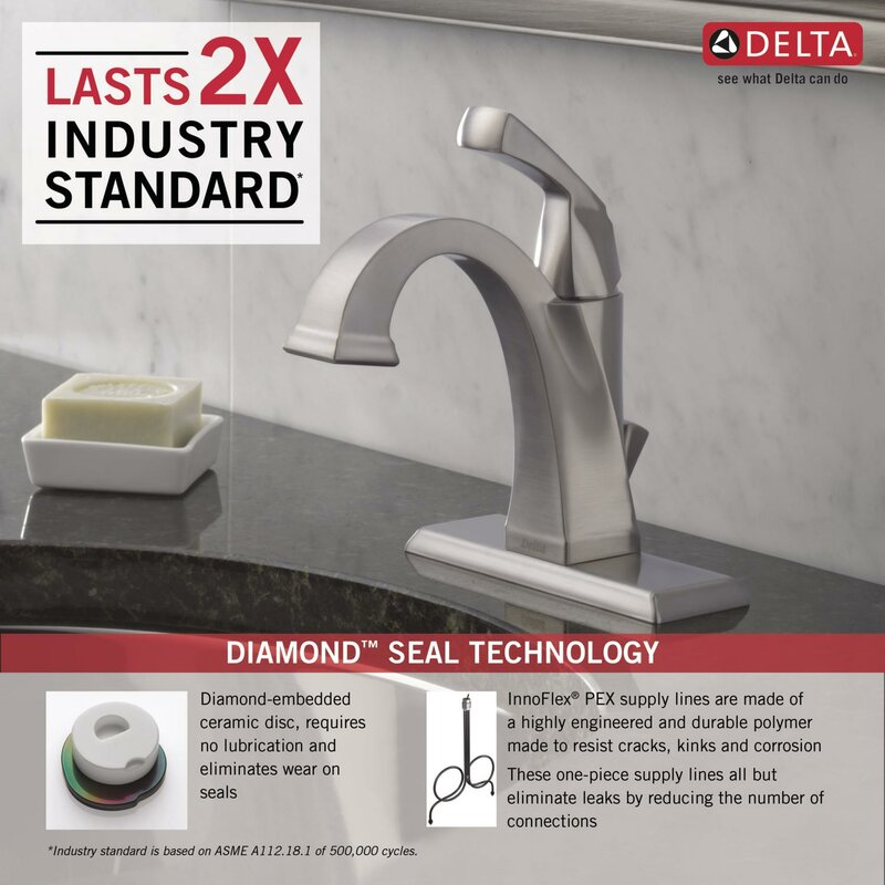 Delta Dryden™ Single hole Bathroom Faucet with Drain Assembly ...