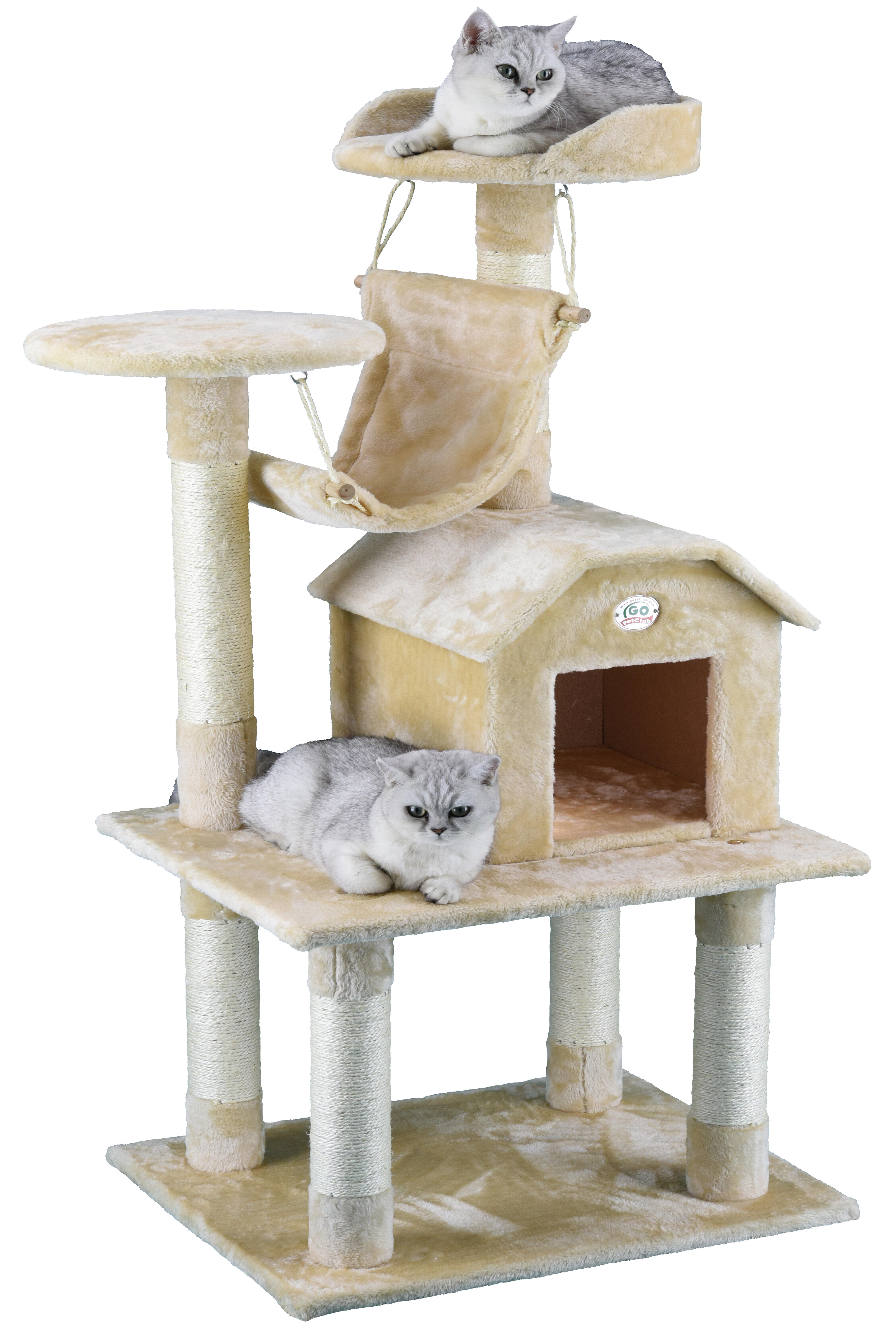 cat tree pdx pet with wayfair hammock condo club three go reviews
