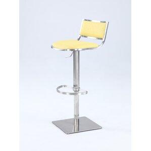 Burkey Adjustable Height Bar Stool by Orren Ellis