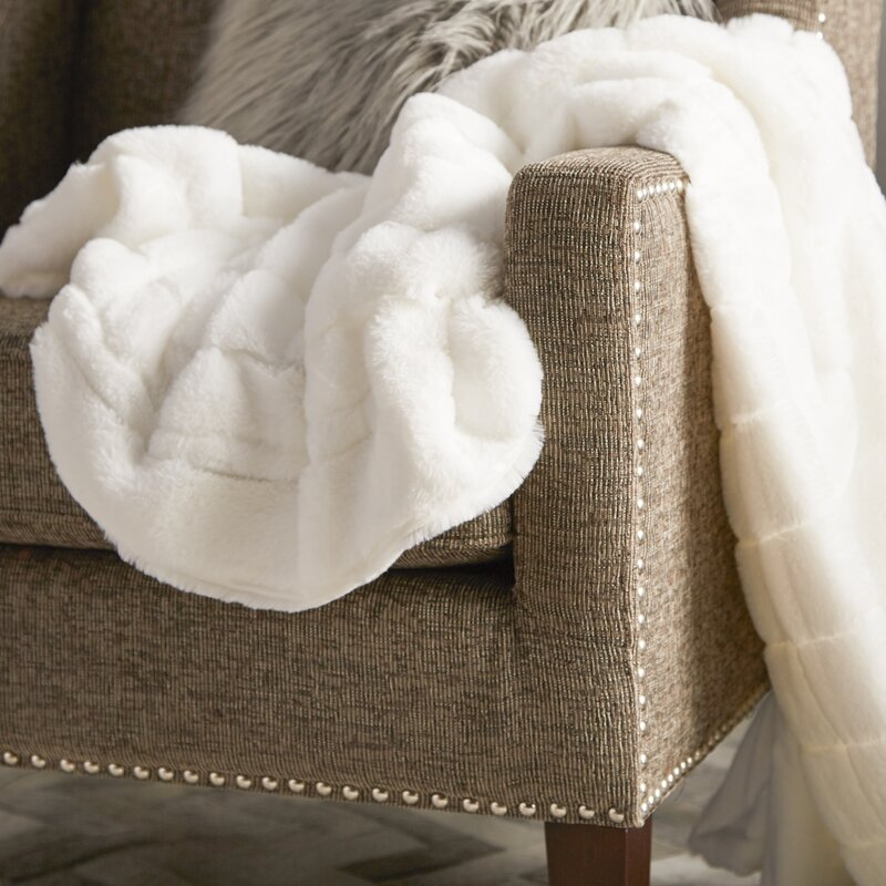 Willa Arlo Interiors Grenville Rabbit Faux Fur Throw