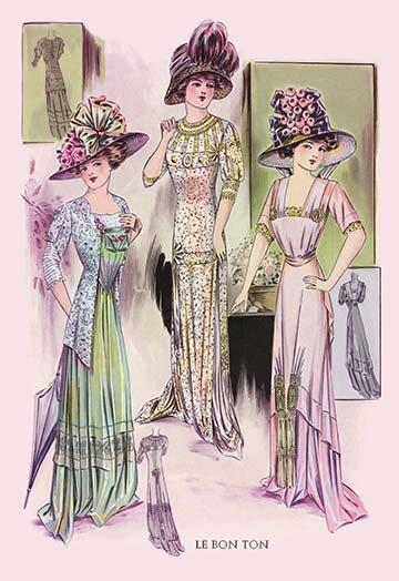 Buyenlarge Le Bon Ton Stylish Pastels Vintage Advertisement Wayfair