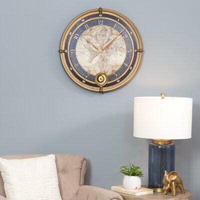 Oversized Ramona Old Map 23 Wall Clock Aspire