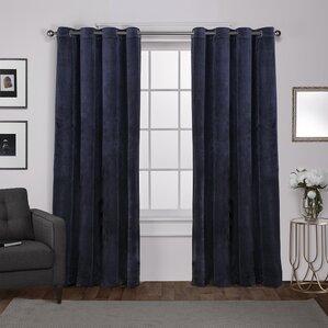 Rossum Solid Room Darkening Grommet Curtain Panels (Set Of 2)