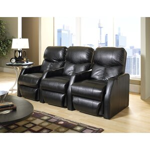 Modern Home Theater Recliner (Row of 3) by Latitude Run