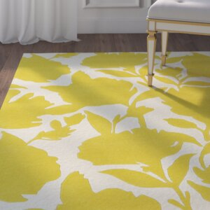 Marquain Hand-Tufted Yellow / Ivory Area Rug