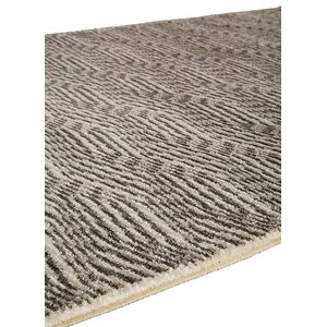 Brigette Charcoal Gray/Marshmallow Area Rug