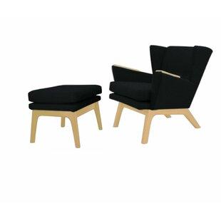 Terrific Corrigan Studio Ledo Armchair And Ottoman Wayfair Ibusinesslaw Wood Chair Design Ideas Ibusinesslaworg