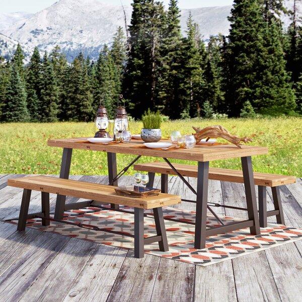 Trent Austin Design Benigna 3 Piece Wood Picnic Table