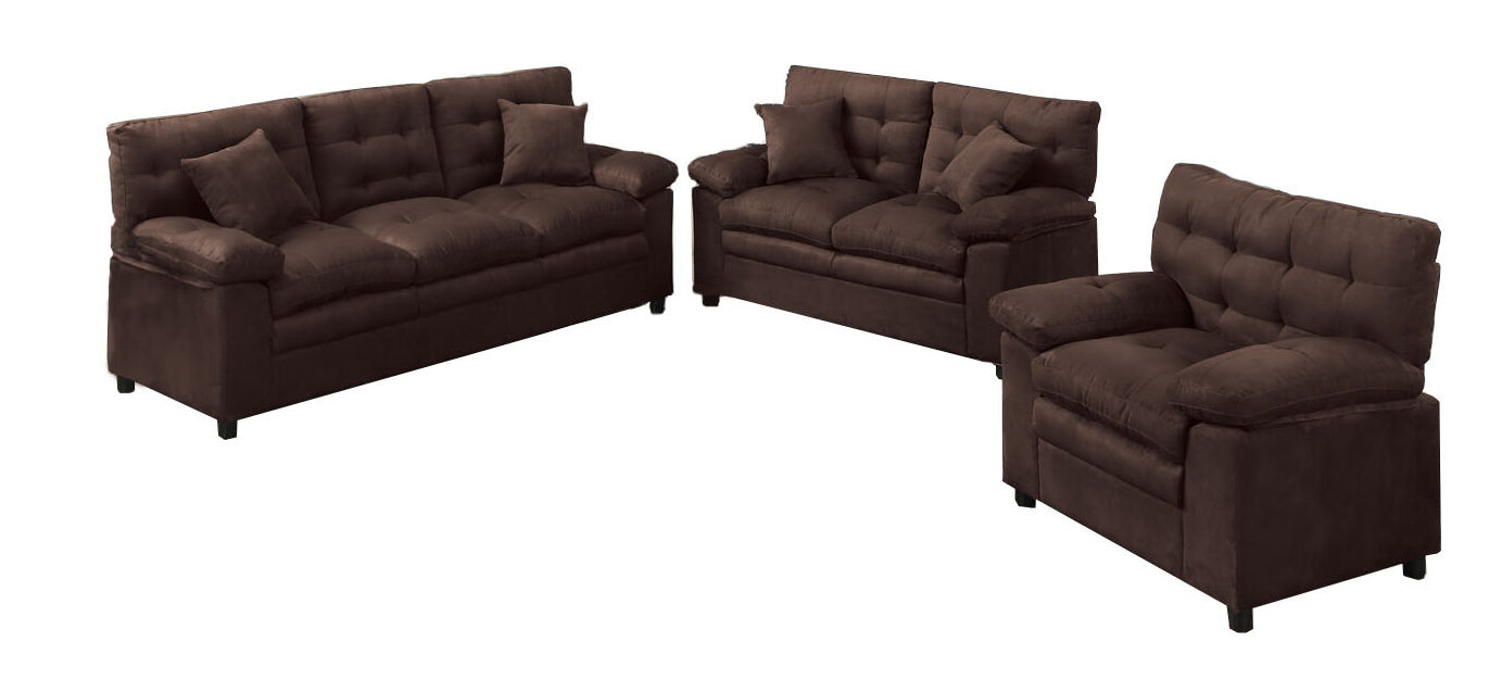 Red Barrel Studio Kingston 3 Piece Living Room Set & Reviews | Wayfair