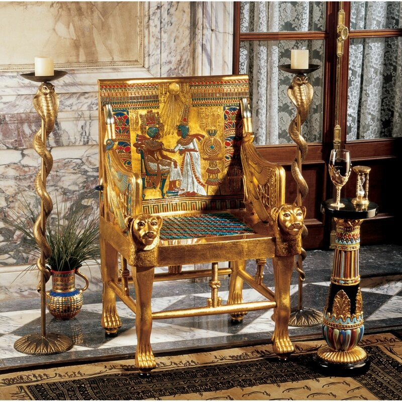King Tutankhamenu0027s Egyptian Throne Armchair