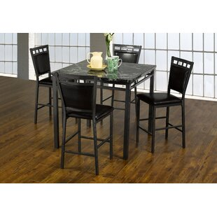 Kistner Marble 5 Piece Dining Set