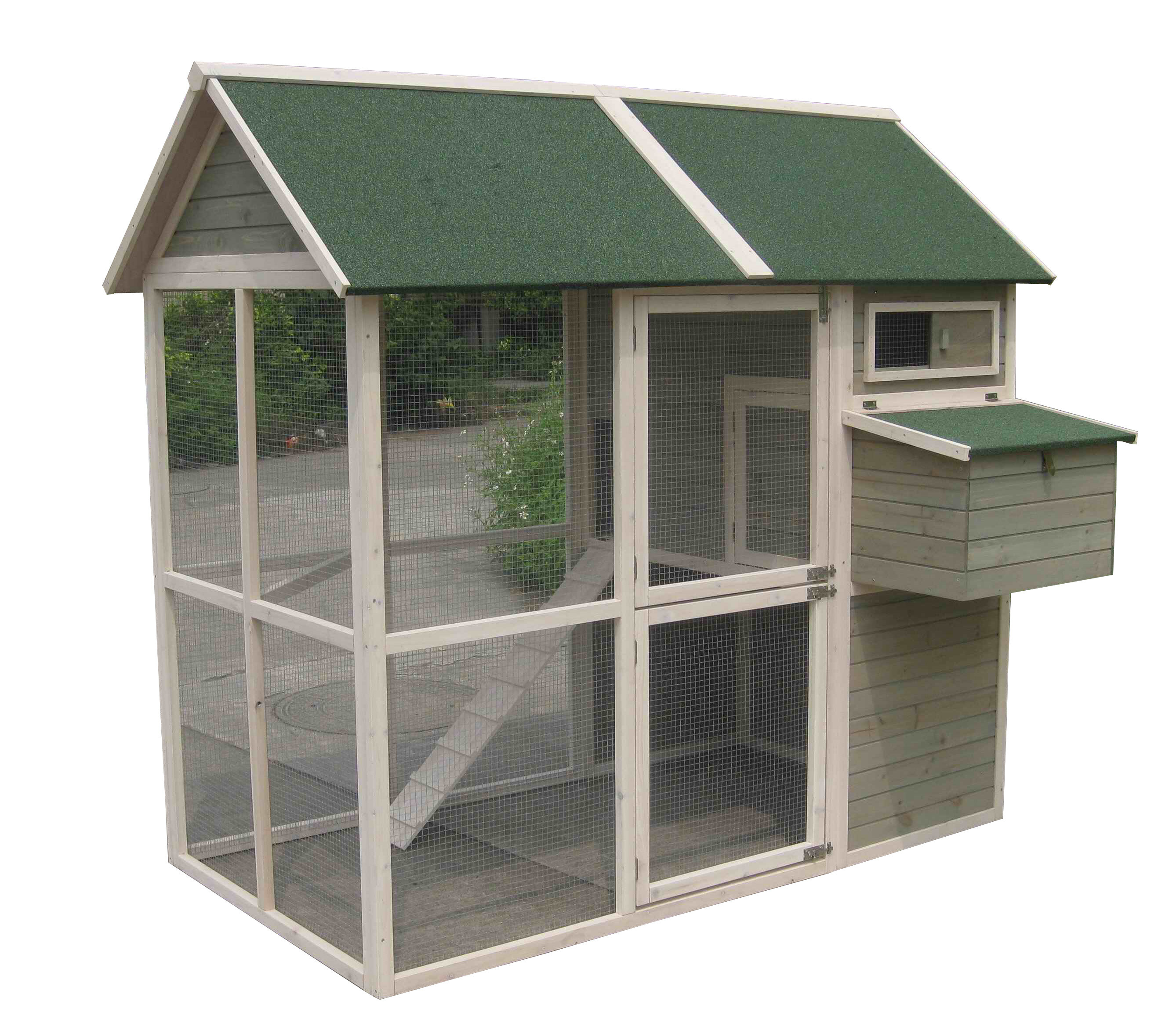 Coops and Feathers Walk-in Chicken Coop with Chicken Run