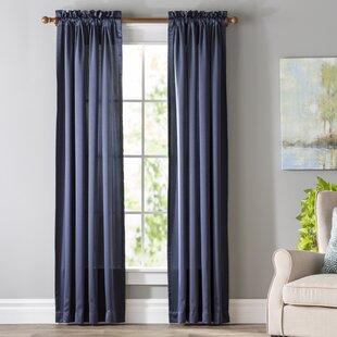 blue white curtains drapes you ll love wayfair