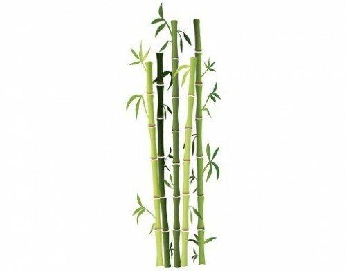Style And Apply Bamboo Bushes Wall Decal
