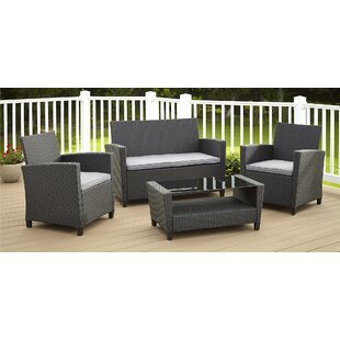 hop Now! Feltonville 4 Piece Sofa Set With Cushions Wrought Studio
