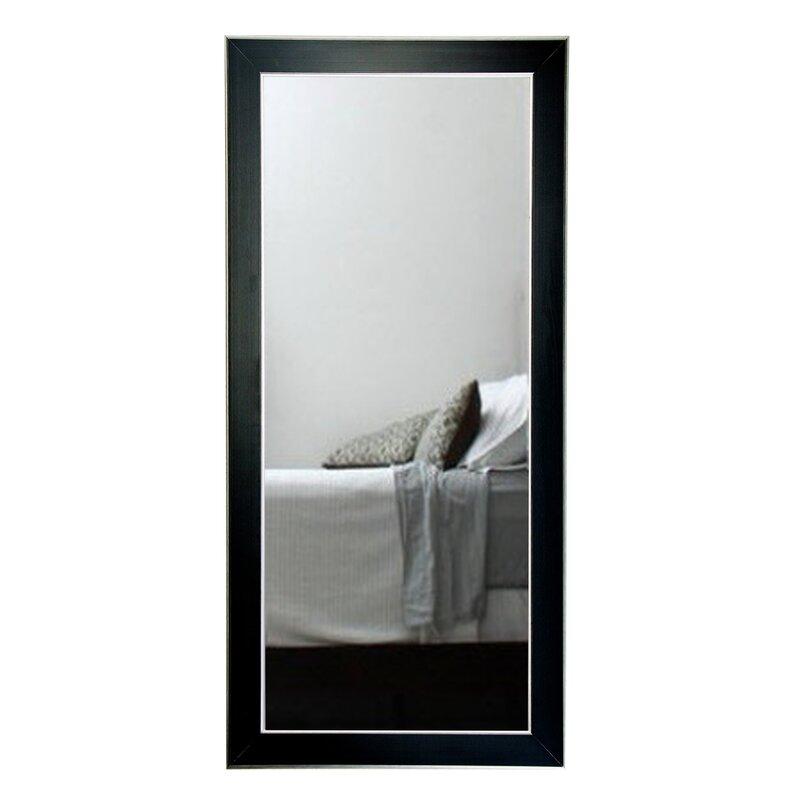 BrandtWorksLLC Black and Silver Designer Accent Floor Mirror | Wayfair