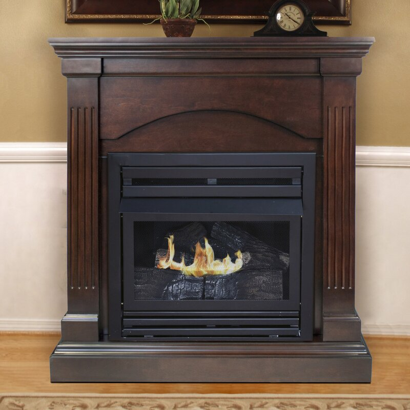 Pleasant Hearth Dual Fuel Vent Free Wall Mount Gas Fireplace ...