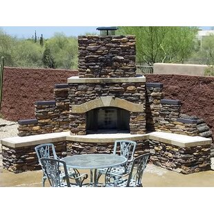 Santa Fe Stone Gas Outdoor Fireplace