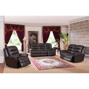 Lorretta 3 Piece Leather Living Room Set by Red Barrel Studio