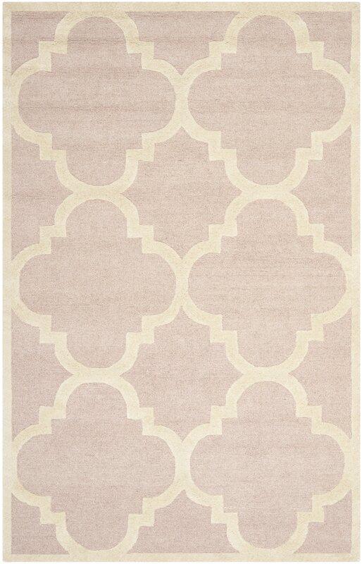 safavieh handgefertigter teppich clark in hellrosa elfenbein bewertungen. Black Bedroom Furniture Sets. Home Design Ideas