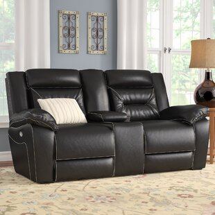 Reclining Sofa With Console Wayfair