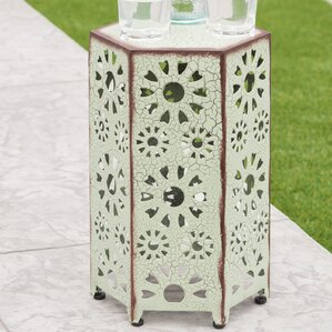 Bales Outdoor Iron End Table by Ebern Designs