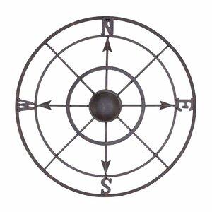Nautical Metal Compass Rose Wall Du00e9cor