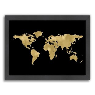 World map picture wayfair world map framed graphic art gumiabroncs Image collections
