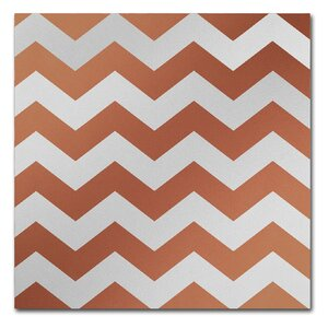 'Xmas Chevron 4' by Color Bakery Graphic Art on Wrapped Canvas