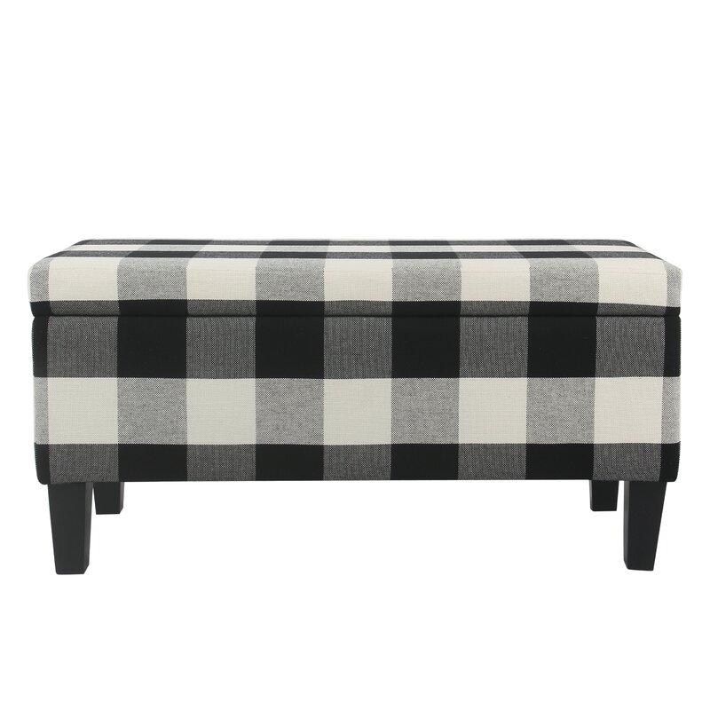 August Grove Shetye Decorative Upholstered Storage Bench