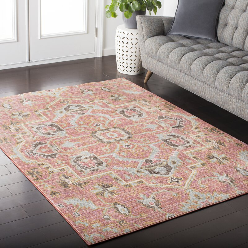 Fields Pink Area Rug Amp Reviews Allmodern