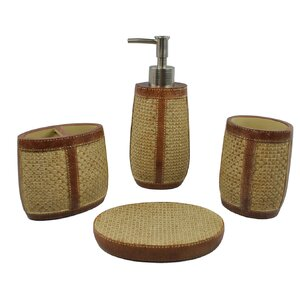 Weave 4-Piece Bathroom Accessory Set