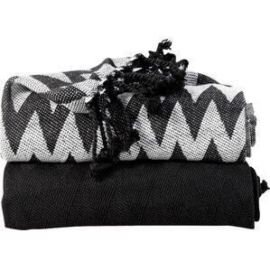 deguzman chevron cotton throw blanket