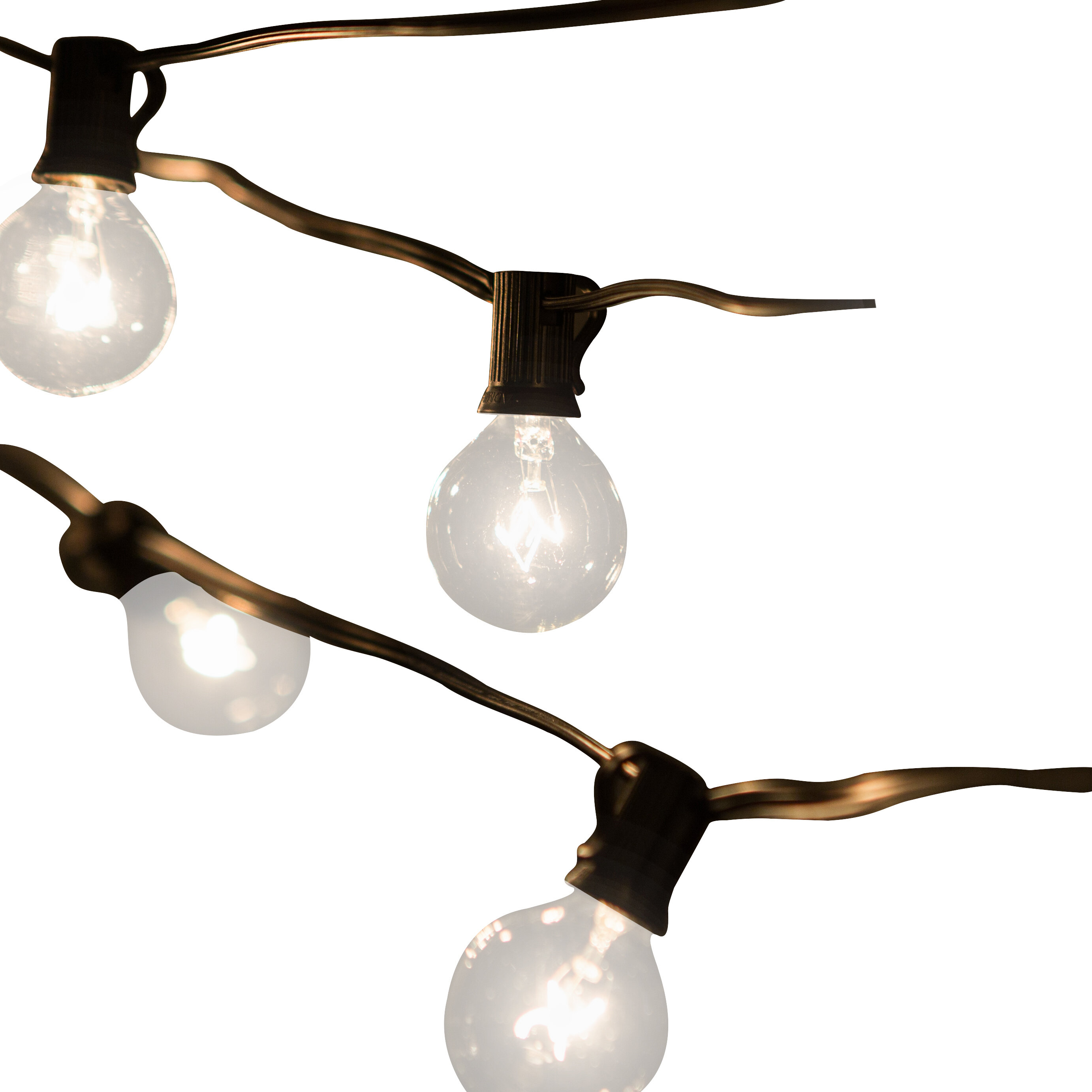 Laurel Foundry Modern Farmhouse Jaime 50-Light 50 ft. Globe String on