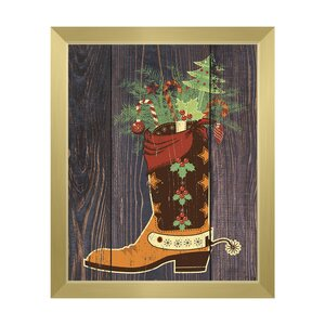 'Cowboy Stocking Stuffer' Framed Graphic Art