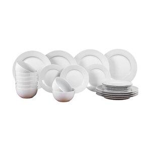 Porcelain Pure 24 Piece Dinnerware Set