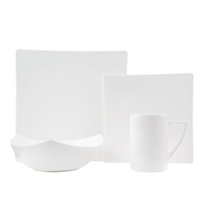Extreme Bone China 16 Piece Dinnerware Set Service for 4  sc 1 st  Wayfair & Square Dinnerware Sets Youu0027ll Love | Wayfair