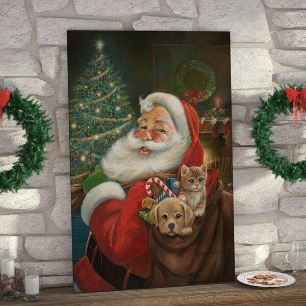 santa claus painting wayfair