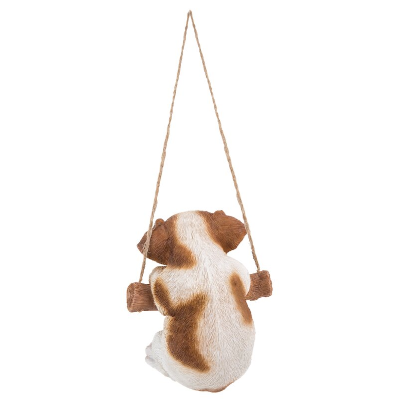 Hanging Jack Russell Terrier Puppy Statue