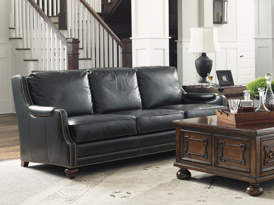 lexington coventry hills leather sofa & reviews | wayfair