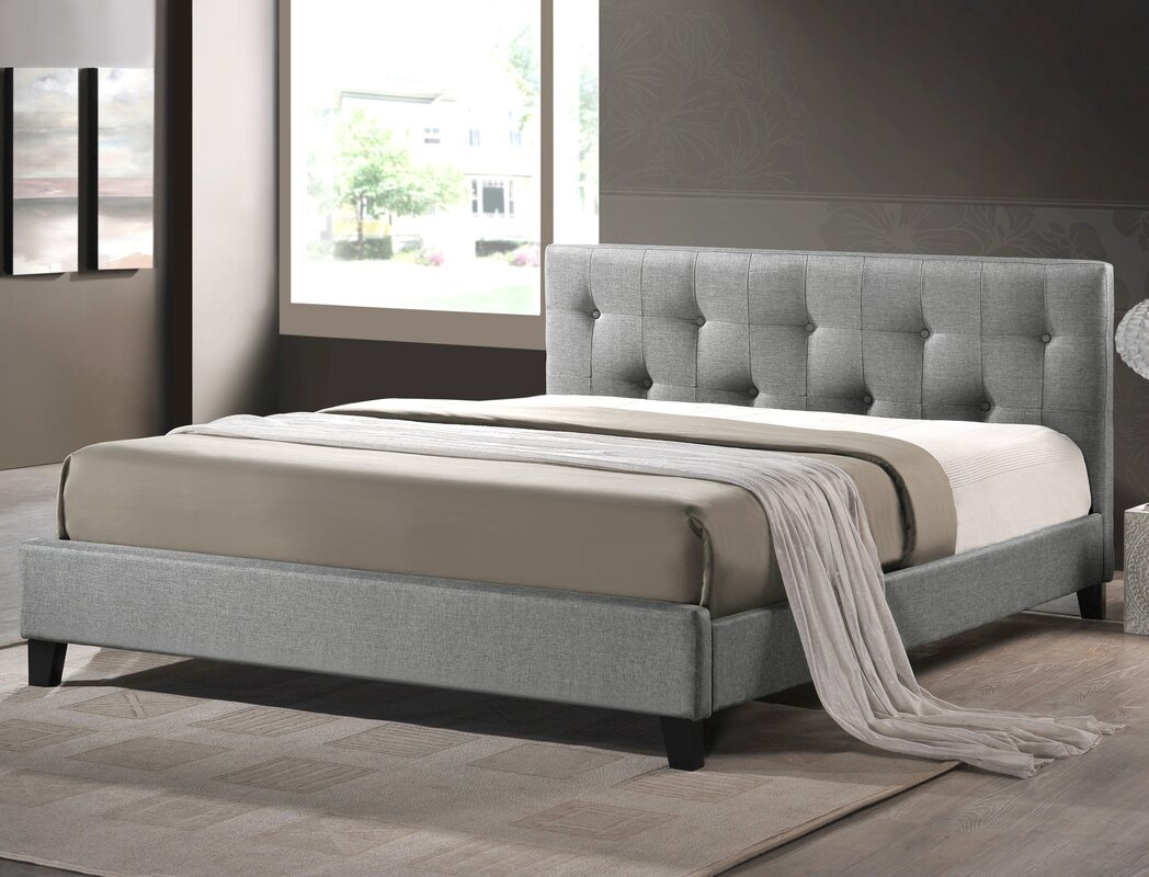Charlton Home Brookby Place Upholstered Platform Bed Reviews Wayfair