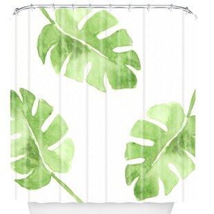 Split Leaf Shower Curtain