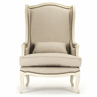 Ordinaire Eira Natural Linen Wingback Chair