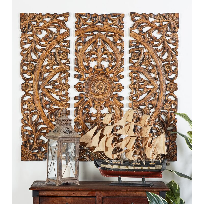 One Allium Way 3 Piece Wood Panel Wall Décor Set & Reviews ...
