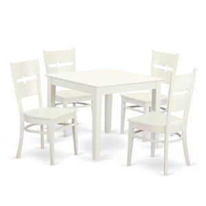 Oxford 5 Piece Dining Set by East West Fu..