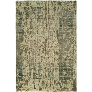 Dhuri Hand-Tufted Green/Brown Shadow Area Rug